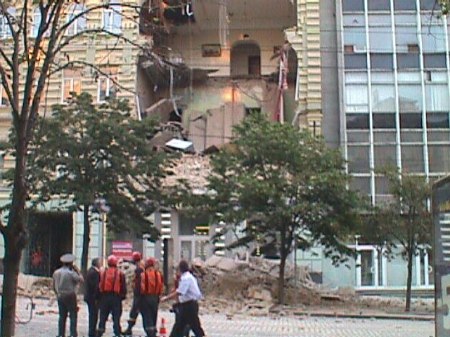 В Киеве обрушилась часть дома