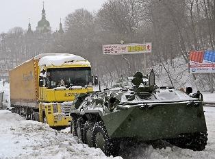 Снежная блокада весеннего Киева