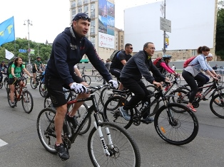 Традиционная велогонка вернулась на Крещатик