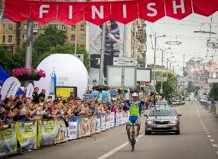 Киев принимает велогонку