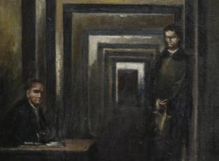 Картина Гитлера в «Музее безумия»