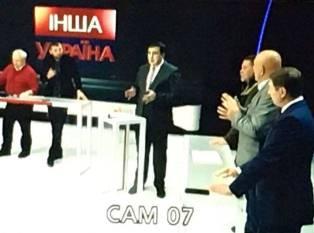 Саакашвили на ТВ возглавил ток-шоу