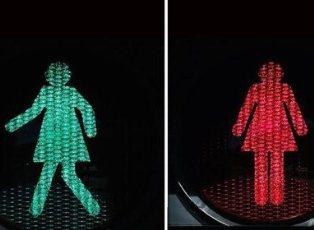 «Женственные» светофоры